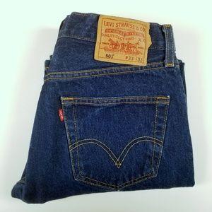 Levi's 501 Classic Blue Jeans 33 x 30 Button A7-03